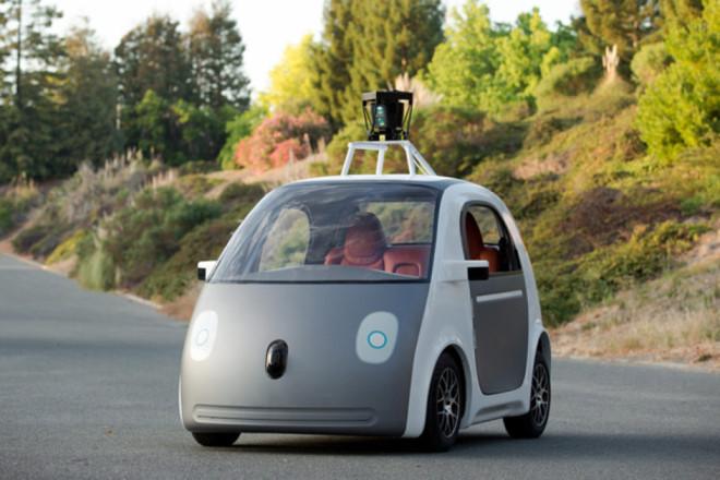 Mẫu xe tự lái mới nhất của google không có vô lăng và bàn đạp ga phanh.
