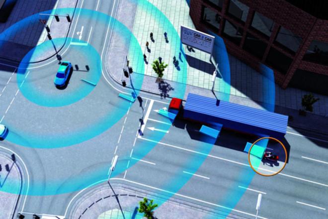 ô hình tương tác giữa các phương tiện giao thông.